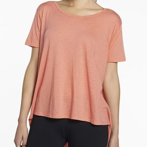 Fabletics Coral Vibe Tee Hi Lo Workout Exercise